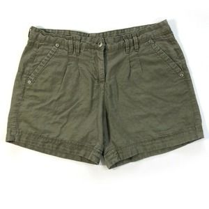 Jeans by Buffalo Shorts Army Green Linen Cotton